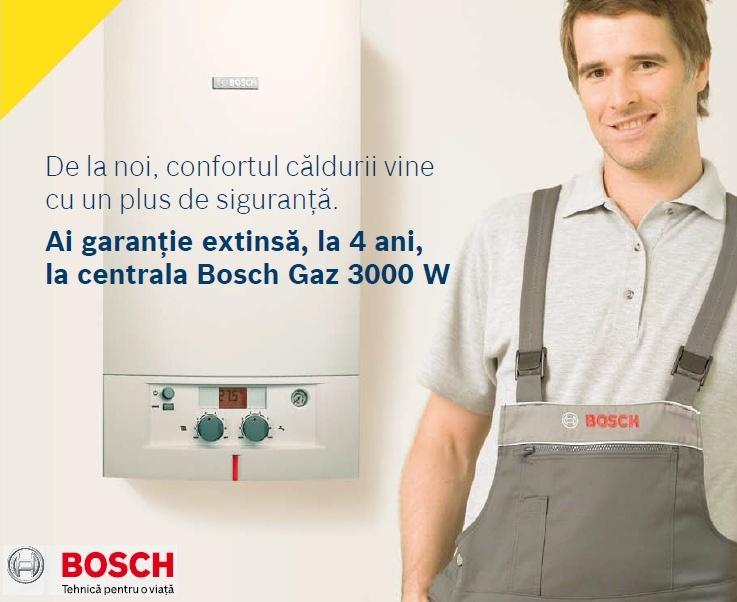 centrala termica Bosch Gaz, garantie 4 ani gaz 3000 w
