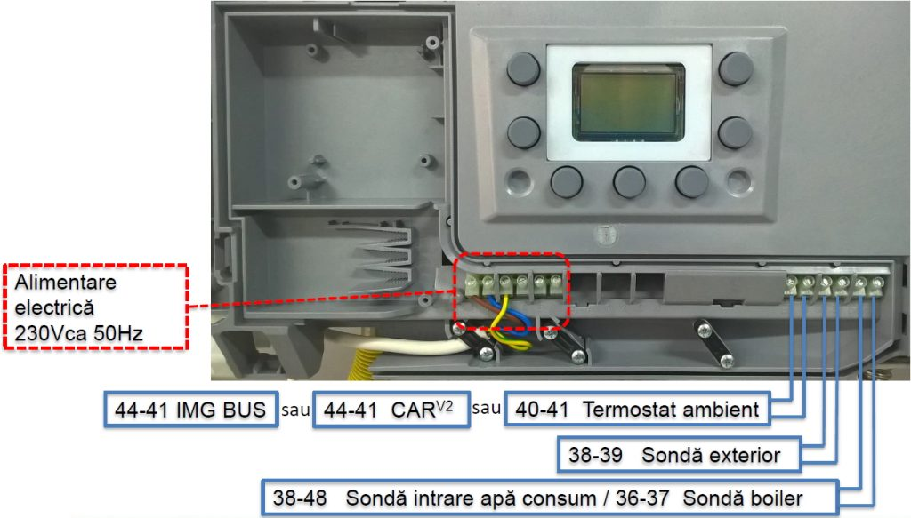 Legare termostat la centrala Immergas Victrix Tera